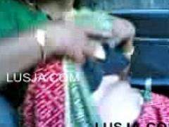 Maid sucks owner dick in buggy