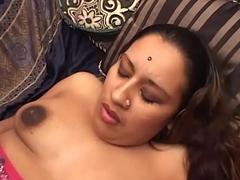 Succulent Bengali Babe Spreading Legs Taking Big White Cock Inside