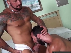 Queasy added to tattooed Hugh Hunter rimms ass added to gets hammered