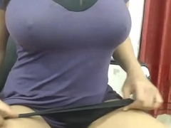 Chunky Boobs Desi Indian Bhabi Fingers
