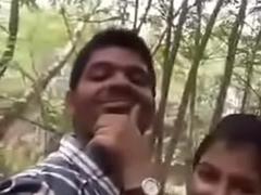 Slurps Indian lover having sex at park